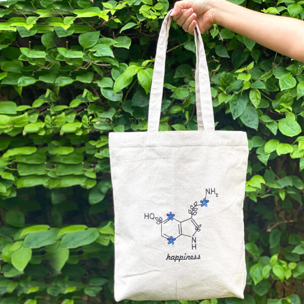 Buy happiness tote bag online
