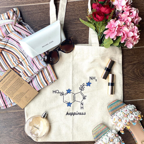 Happiness tote bag online